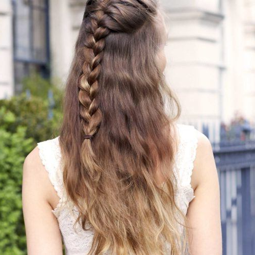 40+ Half Braided Hairstyles You Can Master In Minutes inside Most Up-to-Date Half-Braided Hairstyles
