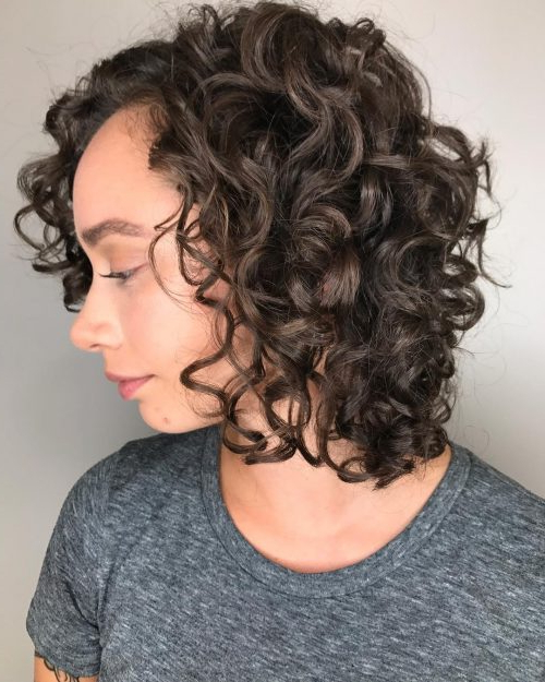 40 Hottest Curly Bob Hairstyles For Naturally Curly Hair pertaining to Cute Short Curly Bob Hairstyles