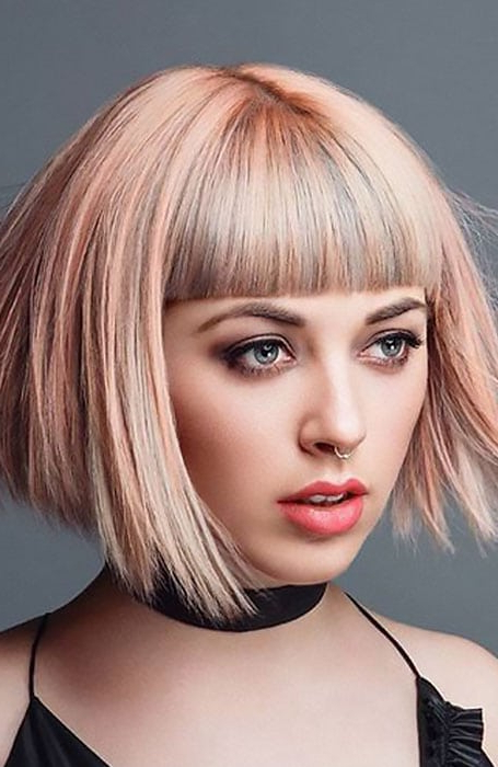 40 Rose Gold Hair Color Idea That Will Inspire You - The pertaining to Most Up-to-Date Edgy Textured Pixie Haircuts With Rose Gold Color