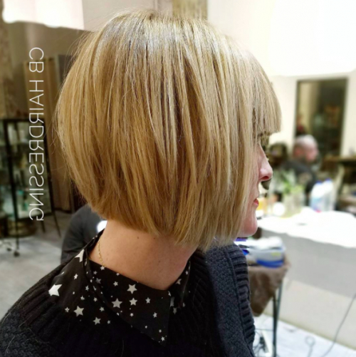 40 Short Hairstyles For Fine Hair 2017 | Herinterest/ Regarding Jaw Length Short Bob Hairstyles For Fine Hair (View 17 of 25)