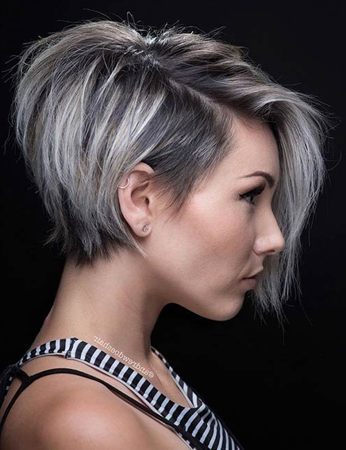 40 Short Hairstyles For Fine Hair intended for Most Recently Edgy Haircuts For Thin Hair
