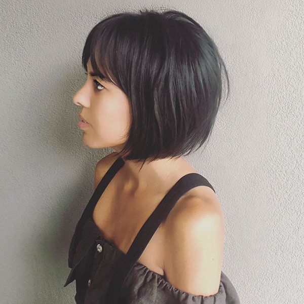 40 Short Hairstyles With Bangs 2019 | Short Hair With Bangs Throughout Modern Bob Hairstyles With Fringe (View 3 of 25)