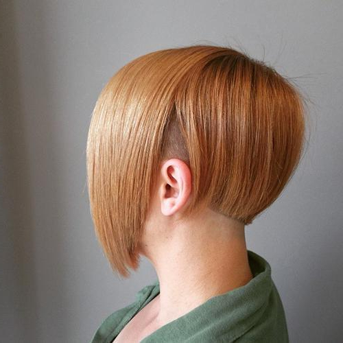 40 Spectacular Blunt Bob Hairstyles – Page 26 – Foliver Blog With Blonde Undercut Bob Hairstyles (View 23 of 25)
