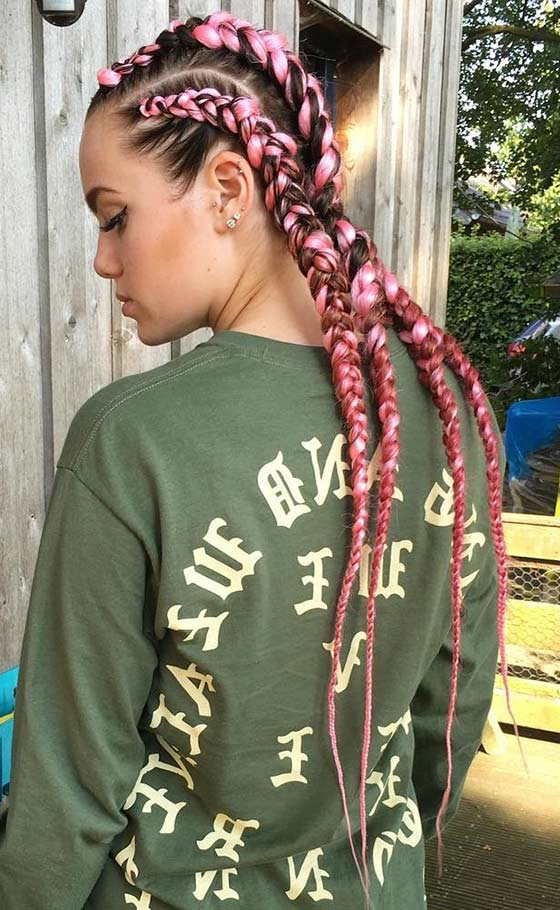 41 Cute And Chic Cornrow Braids Hairstyles Inside Most Recently Baby Pink Braids Hairstyles (View 19 of 25)