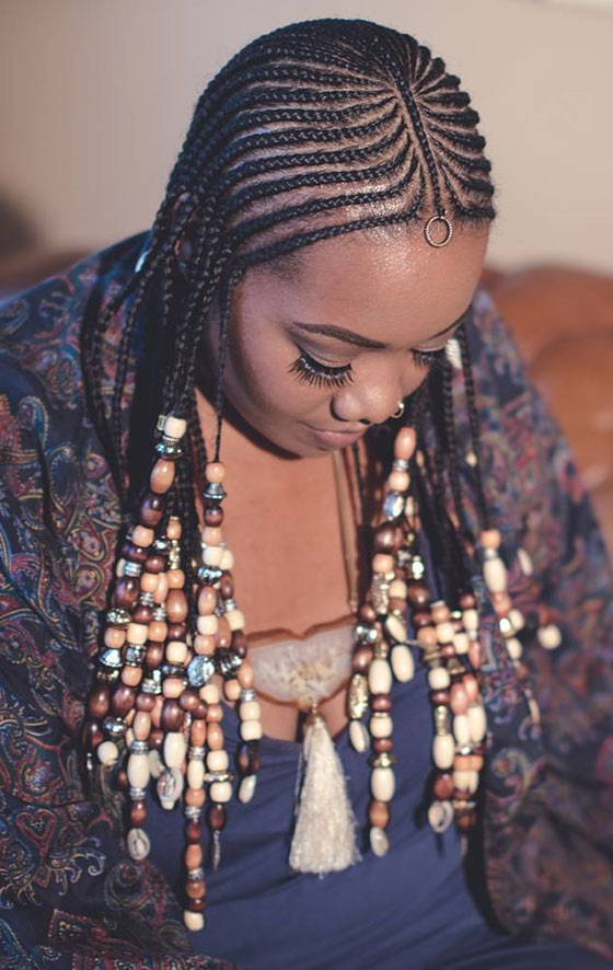 41 Cute And Chic Cornrow Braids Hairstyles intended for Current Beaded Braids Hairstyles