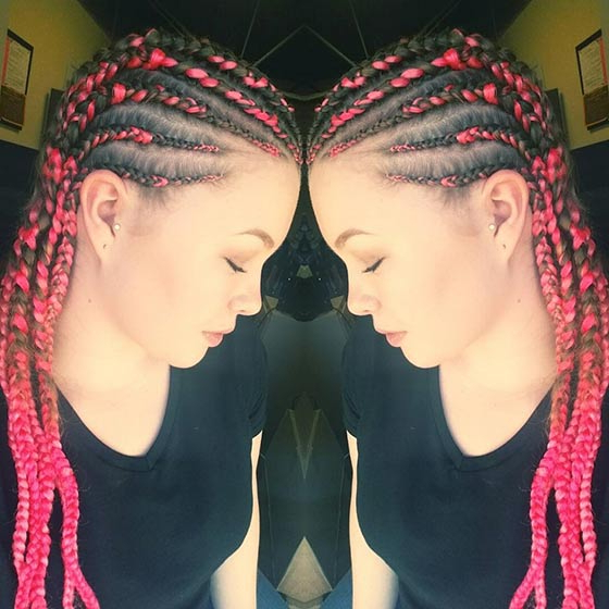 41 Cute And Chic Cornrow Braids Hairstyles Within 2020 Accessorized Straight Backs Braids (View 19 of 25)