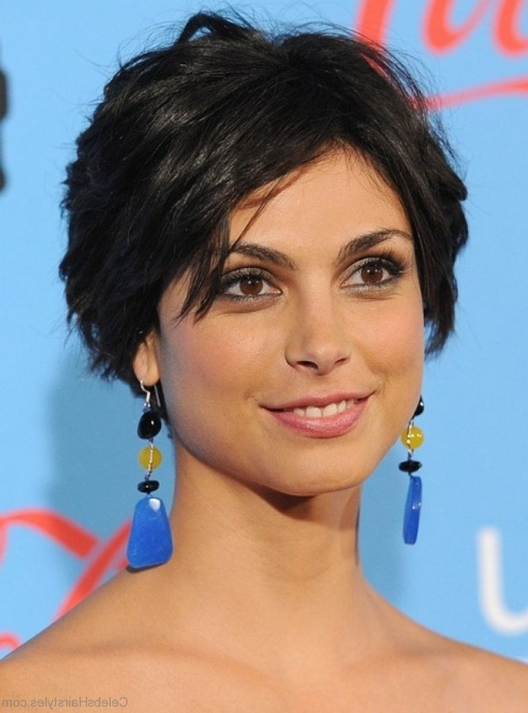 42 Brilliant Hairstyles Of Morena Baccarin For Most Up To Date Morena Pixie Haircuts With Bangs (View 18 of 25)