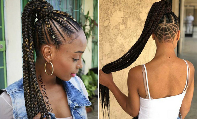 43 Best Braided Ponytail Hairstyles For 2019 | Page 2 Of 4 in 2020 Ponytail Braid Hairstyles