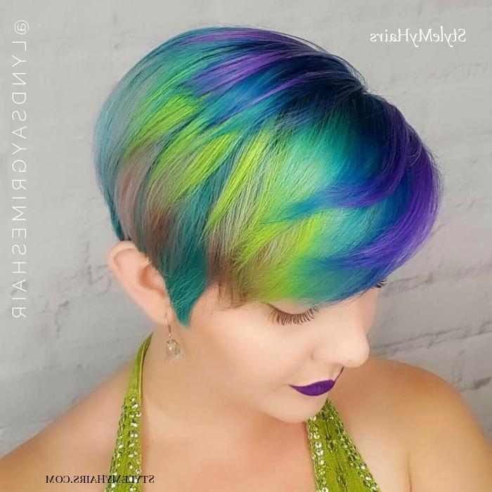 43 Cute Short Haircuts For Short Hair In 2019 – Style My Hairs Regarding Most Popular Aqua Green Undercut Hairstyles (View 21 of 25)