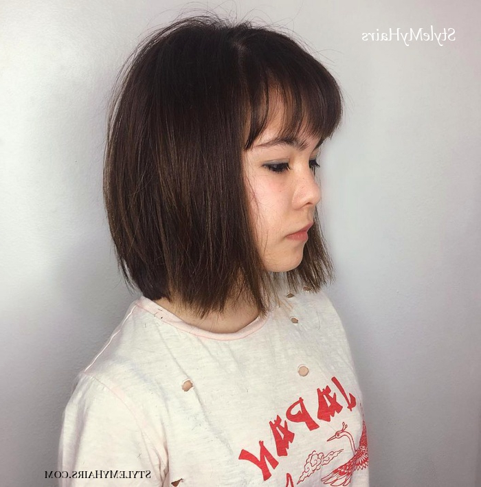 45 Chic Choppy Bob Hairstyles For 2019 – Style My Hairs For Smooth Bob Hairstyles (View 25 of 26)