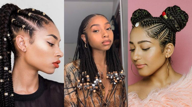 45 Hot Cornrow Hairstyles 2020 | How To Cornrow Braid Your Hair With Regard To Most Recently Three Strand Long Side Braid Hairstyles (View 25 of 25)