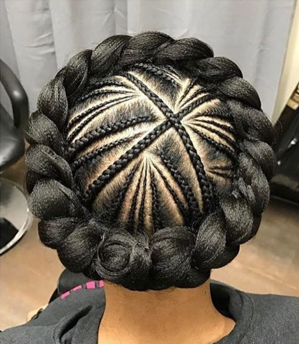 45 Hot Cornrow Hairstyles 2020 | How To Cornrow Braid Your Hair within Most Popular Crown Cornrow Hairstyles
