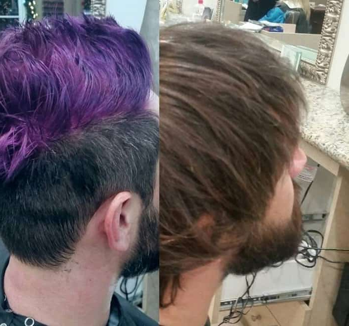 45 Short Faux Hawk Hairstyles That Are Trending Like Crazy inside Most Current Faux-Hawk Fade Haircuts With Purple Highlights