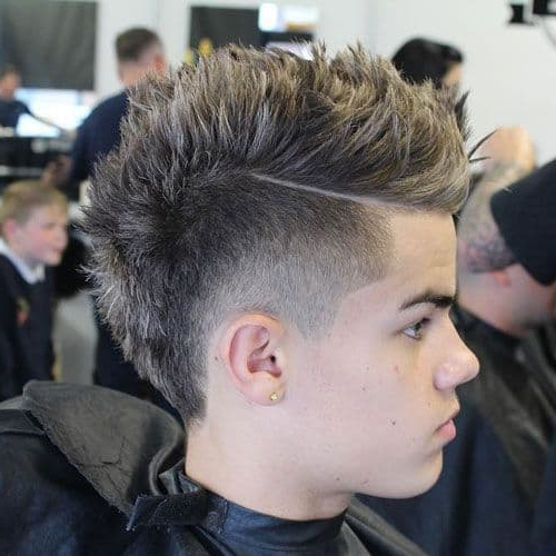 45 Short Faux Hawk Hairstyles That Are Trending Like Crazy with Current Faux-Hawk Fade Haircuts With Purple Highlights