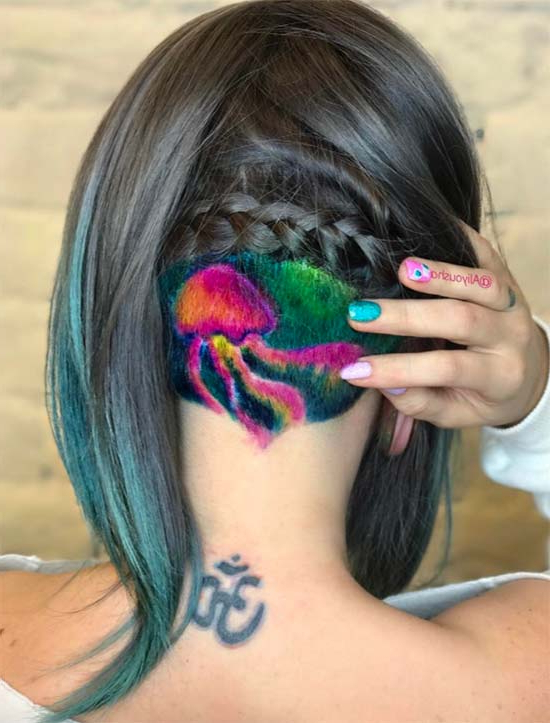 45 Undercut Hairstyles With Hair Tattoos For Women With Most Recently Shaved Undercuts (View 19 of 25)