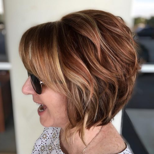 46 Cute Bob Haircuts With Bangs To Copy In 2020 with regard to Stacked Swing Bob Hairstyles