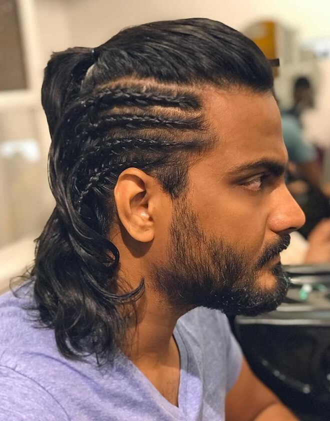 46 Popular Braided Hairstyles For Men In 2019 in Most Up-to-Date Metallic Side Cornrows Hairstyles