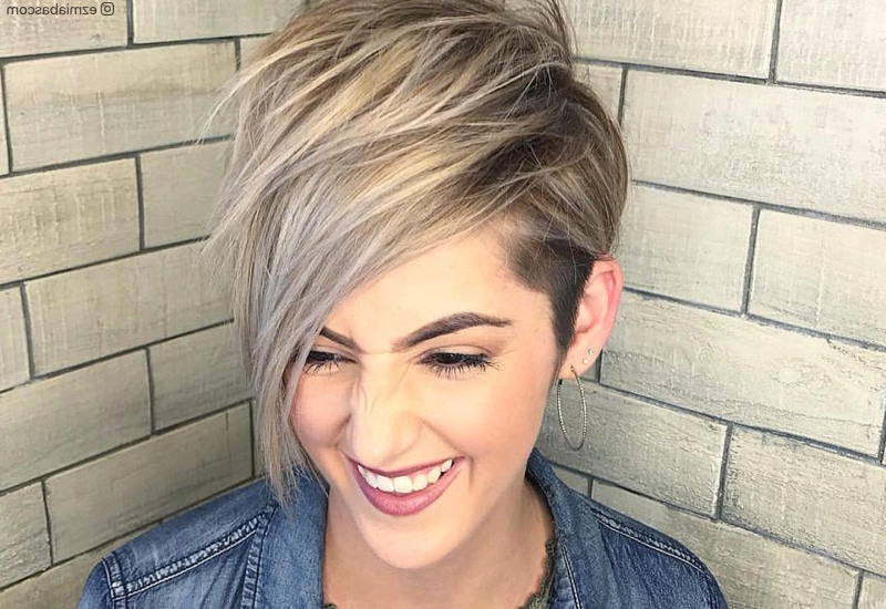 47 Popular Short Choppy Hairstyles For 2020 inside Most Current Shattered Choppy Bangs Pixie Haircuts