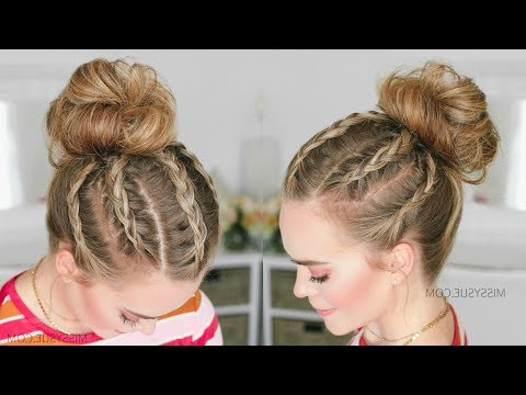 5 Dutch Braids High Bun | Missy Sue – Youtube Regarding Current High Waterfall Braid Hairstyles (View 25 of 25)
