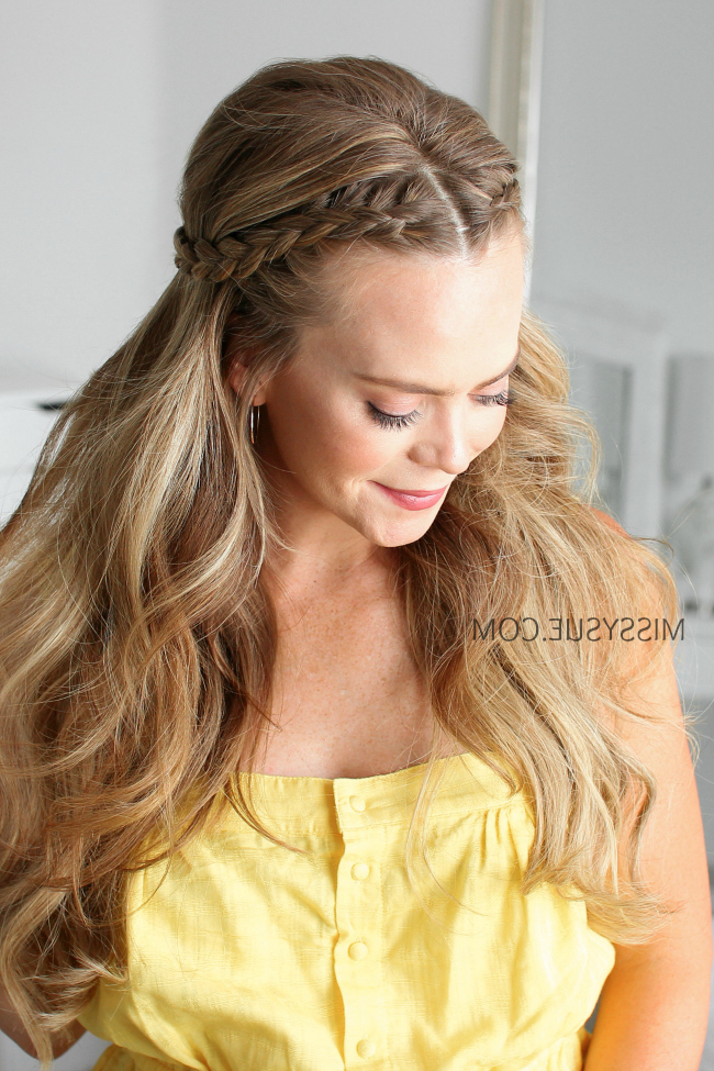 5 Half Up Dutch Braid Hairstyles   Missy Sue Within Most Recently Half Braided Hairstyles (View 9 of 25)