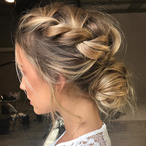 5 Low Bun Hairstyles We Love In Recent Plaited Low Bun Braid Hairstyles (View 11 of 25)