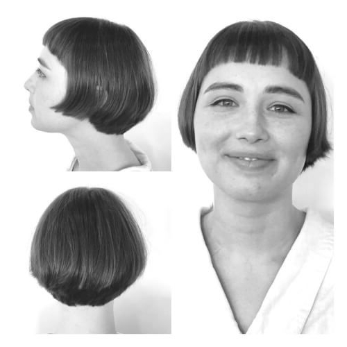 50 Chic Short Bob Haircuts & Hairstyles For Women In 2020 For Vintage Bob Hairstyles With Bangs (View 10 of 25)