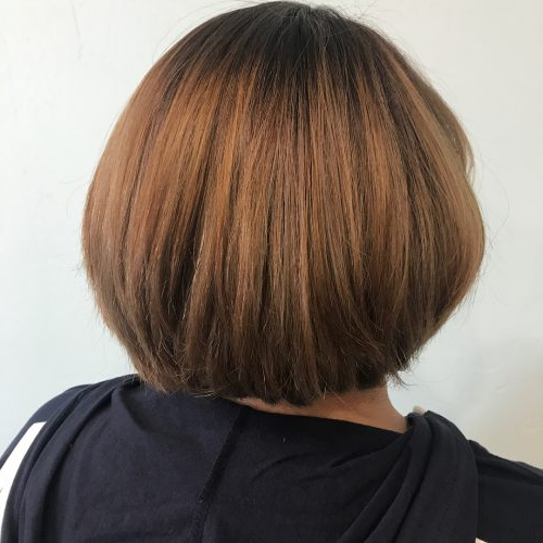 50 Chic Short Bob Haircuts & Hairstyles For Women In 2020 Within Rounded Sleek Bob Hairstyles With Minimal Layers (View 6 of 25)