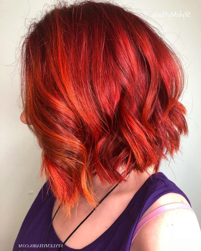 50 Chic Short Bob Hairstyles & Haircuts For Women In 2019 For Bright Red Bob Hairstyles (View 17 of 25)