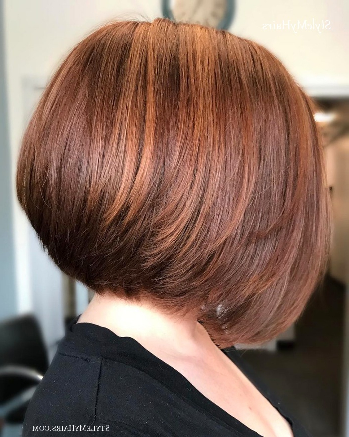 50 Chic Short Bob Hairstyles & Haircuts For Women In 2019 Pertaining To Short Cappuccino Bob Hairstyles (View 11 of 25)