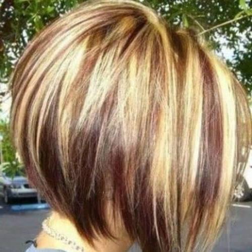 50 Creative Stacked Bob Haircut Ideas | All Women Hairstyles Regarding Razor Bob Haircuts With Highlights (View 13 of 25)