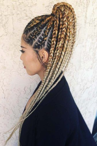 50 Cute Cornrow Braids Ideas To Tame Your Naughty Hair Regarding Recent Billowing Ponytail Braid Hairstyles (View 4 of 25)