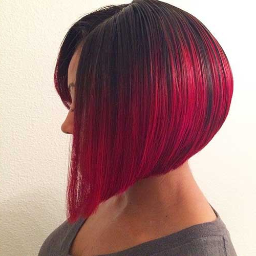 50 Fabulous Classy Graduated Bob Hairstyles For Women Pertaining To Bright Red Bob Hairstyles (View 22 of 25)