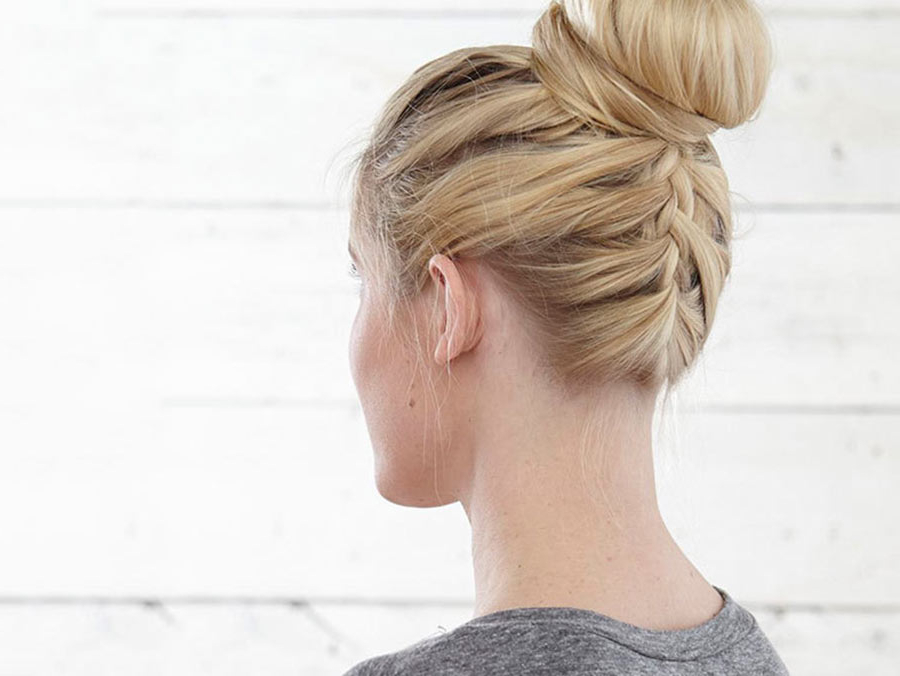 50 Fabulous French Braid Hairstyles To Diy – More Pertaining To Most Current Modern Braided Top Knot Hairstyles (View 17 of 25)