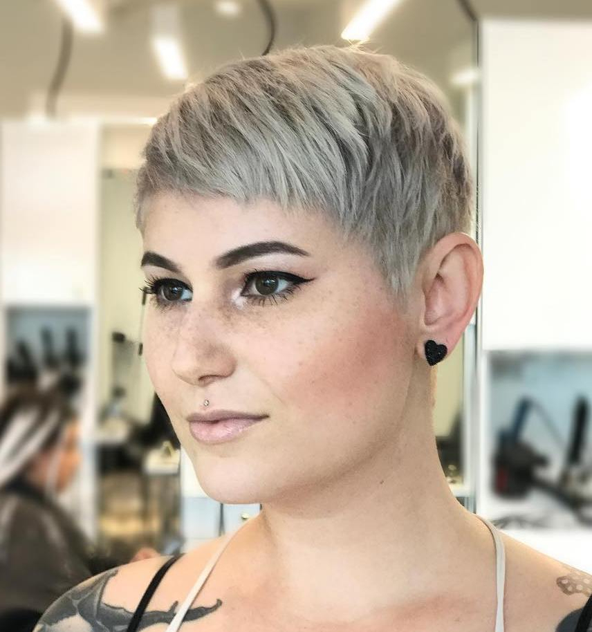 50 Hottest Pixie Cut Hairstyles In 2020 For 2018 Silver Pixie Haircuts With Side Swept Bangs (View 5 of 25)