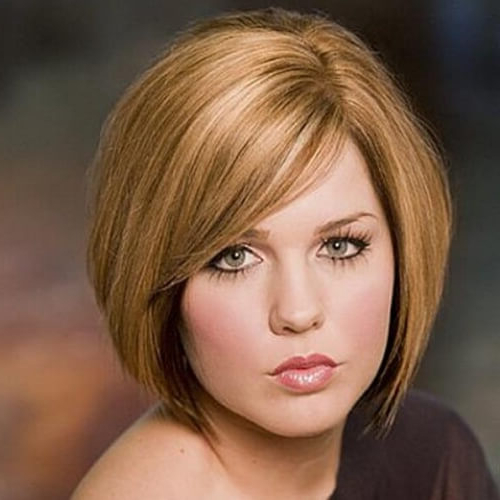 50 Perfect Short Haircuts For Round Faces   Hair Motive Hair For Rounded Sleek Bob Hairstyles With Minimal Layers (View 14 of 25)