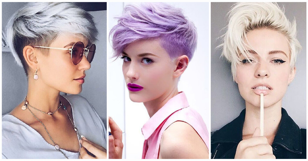 50 Pixie Haircuts You'll See Trending In 2020 Intended For Best And Newest Wavy Asymmetrical Pixie Haircuts With Pastel Red (View 8 of 26)