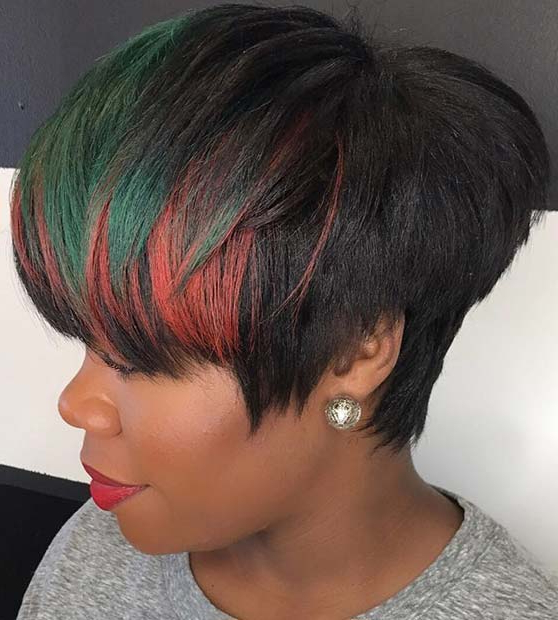 50 Short Hairstyles For Black Women | Stayglam Throughout Latest Plum Brown Pixie Haircuts For Naturally Curly Hair (View 10 of 25)