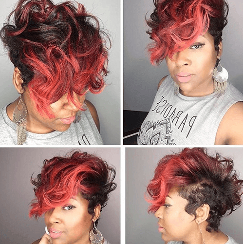 50 Wavy & Curly Pixie Cut Ideas For All Face Shapes & Styles For Most Recently Wavy Asymmetrical Pixie Haircuts With Pastel Red (View 4 of 26)