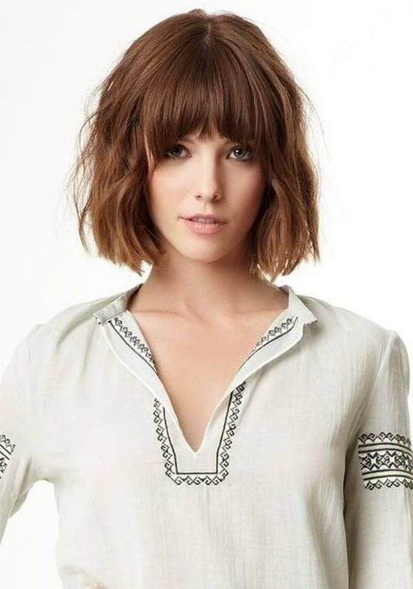 50 Ways To Wear Short Hair With Bangs For A Fresh New Look With Wispy Bob Hairstyles With Long Bangs (View 16 of 25)