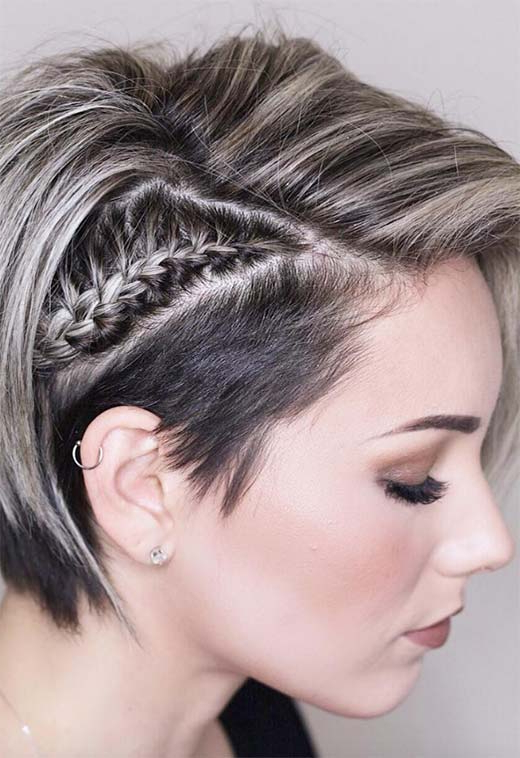 51 Cute Braids For Short Hair: Short Braided Hairstyles For Inside Best And Newest Braided Short Hairstyles (View 6 of 25)