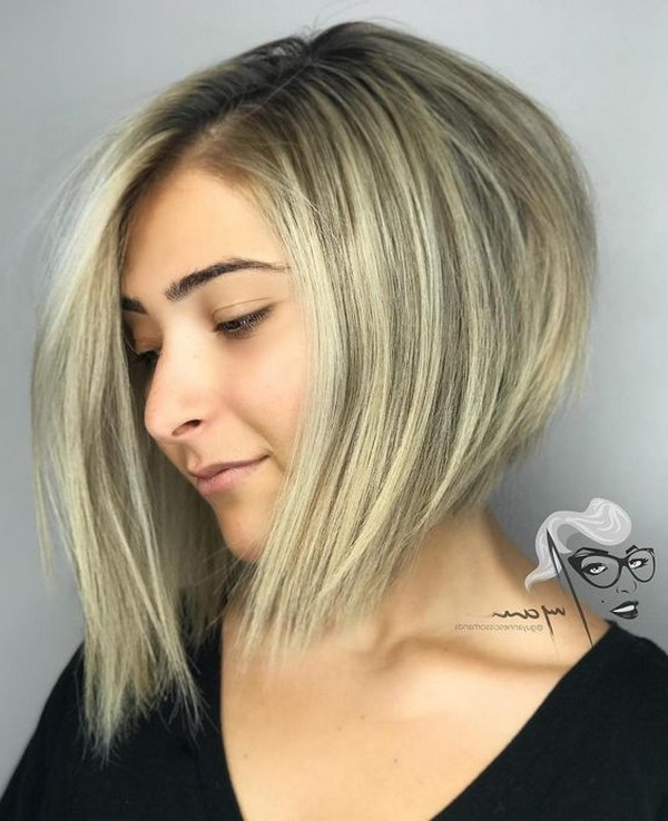 53+ Best New Hairstyles For Round Faces Trending In 2019 Throughout Jagged Bob Hairstyles For Round Faces (View 11 of 25)