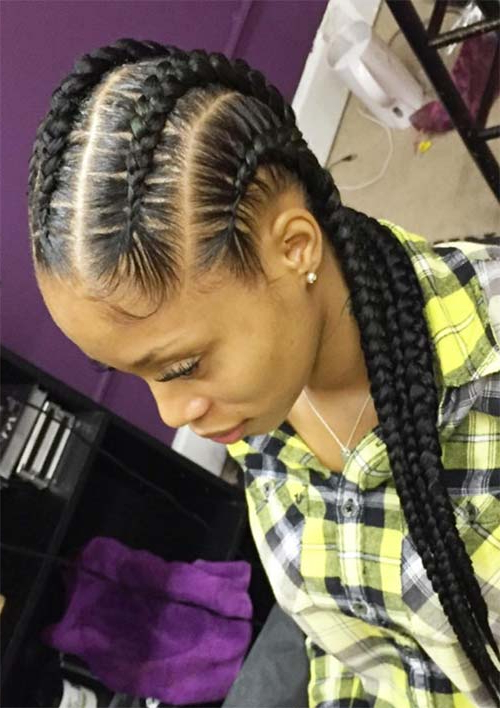 53 Goddess Braids Hairstyles – Tips On Getting Goddess Inside Newest Straight Backs Braids Hairstyles (View 20 of 25)