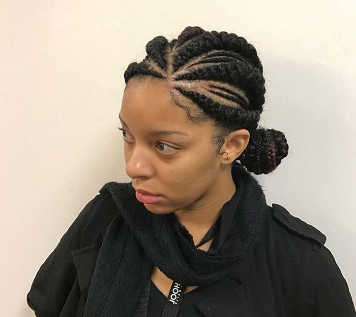 53 Goddess Braids Hairstyles – Tips On Getting Goddess Throughout Current Straight Backs Braids Hairstyles (View 16 of 25)
