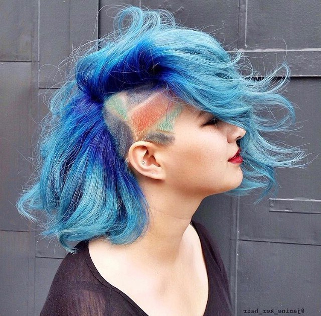 55 Cool Shaved Hairstyles For Women – Hottest Haircut Designs Within Most Recently Aqua Green Undercut Hairstyles (View 18 of 25)
