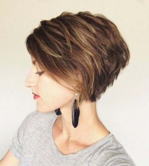 55 Cute Bob Hairstyles For 2017: Find Your Look For A Very Short Layered Bob Hairstyles (View 22 of 25)