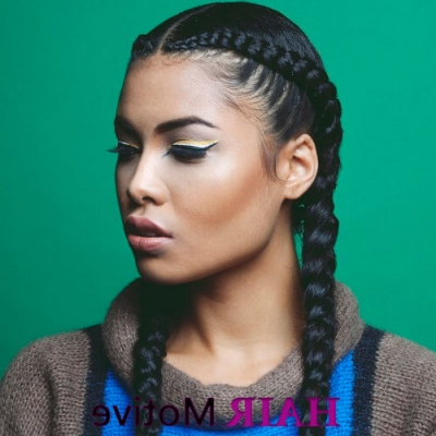 55 Flattering Goddess Braids Ideas To Inspire You! | Hair For Most Popular Metallic Side Cornrows Hairstyles (View 9 of 25)
