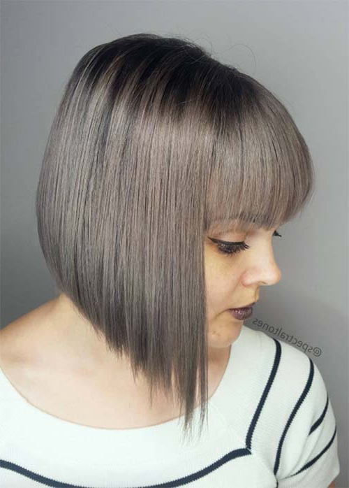 55 Incredible Short Bob Hairstyles & Haircuts With Bangs With Regard To Modern Bob Hairstyles With Fringe (View 15 of 25)
