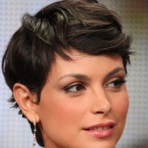 55 Ravishing Short Hairstyles For Ladies With Thick Hair For Newest Morena Pixie Haircuts With Bangs (View 11 of 25)