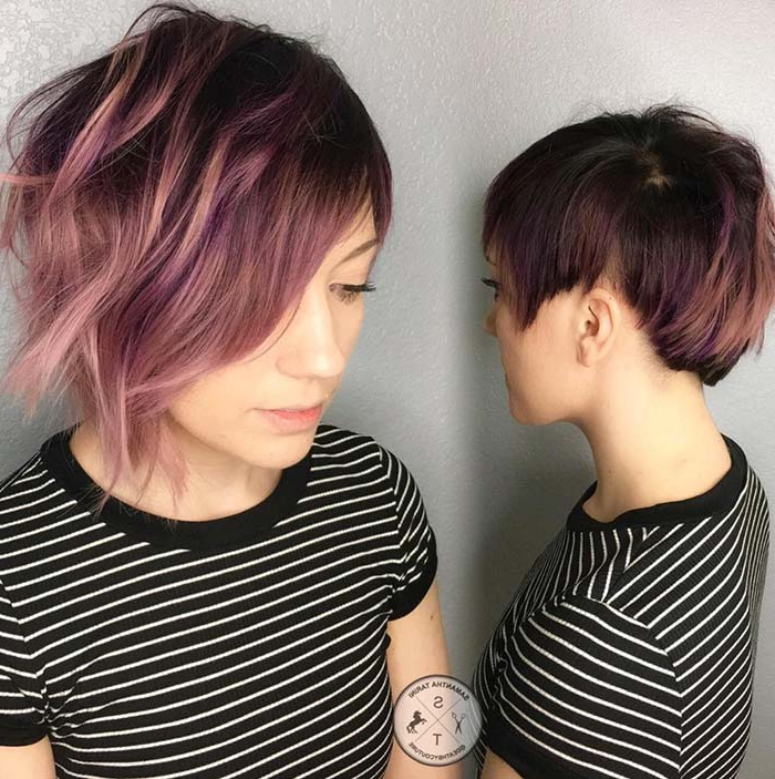 55 Short Hairstyles For Women With Thin Hair | Fashionisers© Inside Best And Newest Edgy Textured Pixie Haircuts With Rose Gold Color (View 22 of 25)
