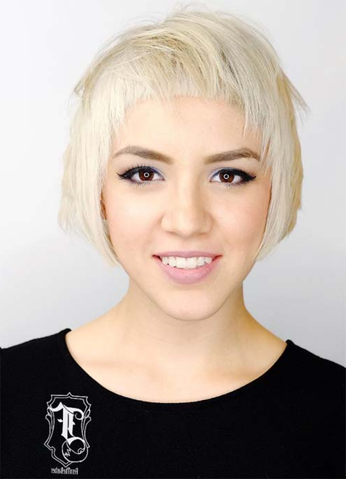 55 Short Hairstyles For Women With Thin Hair | Fashionisers© Inside Latest Edgy & Chic Short Curls Pixie Haircuts (View 23 of 25)